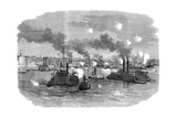 Naval Battle on the Mississippi, Memphis, Tennessee, American Civil War, July 1862 Giclee Print