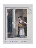 A Bill of the Play, Cries of London, 1804 Giclee Print by William Marshall Craig