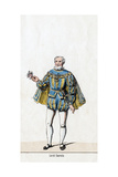Sir William Sands, Costume Design for Shakespeare's Play, Henry VIII, 19th Century Giclee Print