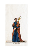 Lord Mayor of London, Costume Design for Shakespeare's Play, Henry VIII, 19th Century Giclee Print