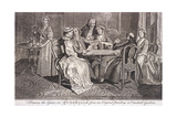 Playing the Game at Quadrille, C1745 Giclee Print by Francis Hayman