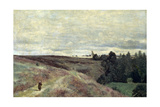 Heather Covered Hills Near Vimoutier, 1860S Giclee Print by Jean-Baptiste Camille Corot