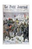 Russian Nurse Taken Prisoner by the Manchus Being Handed over to the Japanese, Manchuria, 1904 Giclee Print