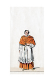 Cardinal Wolsey, Costume Design for Shakespeare's Play, Henry VIII, 19th Century Giclee Print