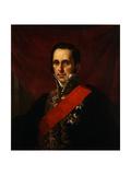 Portrait of Count Sergey Semionovich Uvarov (1786-185), 1844 Giclee Print by Jan Ksawery Kaniewski