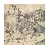 Peasant Family Going to the Market, Between 1473 and 1475 Giclee Print by Martin Schongauer