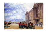 The Return of the Guards from the Crimea, July 1856 Giclee Print by William Simpson