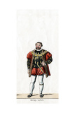Duke of Suffolk, Costume Design for Shakespeare's Play, Henry VIII, 19th Century Giclee Print
