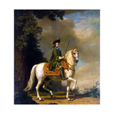 Equestrian Portrait of Empress Catherine II, (1729-179), after 1762 Giclee Print by Vigilius Erichsen