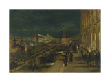 Illumination of Moscow on the Occasion of the Coronation of Emperor Alexander III Giclee Print by Nikolai Yegorovich Makovsky