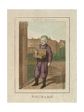Rhubarb!, Cries of London, 1804 Giclee Print by William Marshall Craig