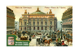 Views of Capitals: Place De L'Opera, Paris, C1900 Giclee Print