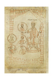 Salian Dynasty Family Tree: Conrad II, Henry III, Henry IV, His Wife Eupraxia of Kiev, Henry V Giclee Print by  Ekkehard of Aura
