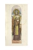 Saint Nikita, Bishop of Novgorod, 1884-1889 Giclee Print by Viktor Mikhaylovich Vasnetsov