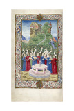 The Nine Muses with Pegasus and Mount Helicon (From Argumentum by Guarinus Veronensi), 1485-1499 Giclee Print