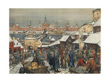 Novgorod Marketplace, End of 19th - Early 20th Century Giclee Print by Appolinari Mikhaylovich Vasnetsov