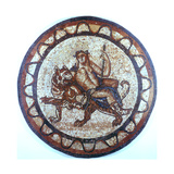 Bacchus, Ancient Roman God of Wine, Riding on a Tiger, Roman Mosaic, 1st or 2nd Century Giclee Print