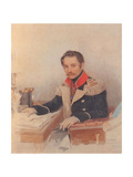Portrait of Leonty Vasilievich Dubelt (1792-186), Chief of Staff of the Corps of Gendarmes, 1834 Giclee Print by Pyotr Fyodorovich Sokolov