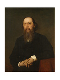 Portrait of the Author Mikhail Saltykov-Shchedrin (1826-188), 1879 Giclee Print by Ivan Nikolayevich Kramskoi