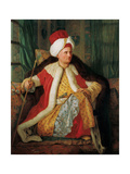 Portrait of Charles Gravier Count of Vergennes and French Ambassador, in Turkish Attire Giclee Print by Antoine de Favray
