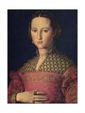 Portrait of Eleanor of Toledo, Wife of Grand Duke Cosimo I De' Medici, C1545 Giclée-tryk af Agnolo Bronzino