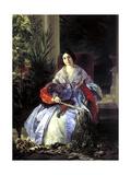 Portrait of Princess Elizaveta Pavlovna Saltykova, 1841 Giclee Print by Karl Pavlovich Briullov
