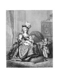 Marie Antoinette and Her Children, C1787 Giclee Print by Elisabeth Louise Vigee-LeBrun