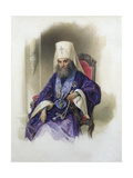 Portrait of the Metropolitan Filaret of Moscow, (1782-186), 1854 Giclee Print by Vladimir Ivanovich Hau