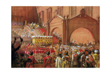 Emperor Nicholas II on the Red Porch after His Coronation, 1896 Giclee Print by Albert Gustaf Aristides Edelfelt