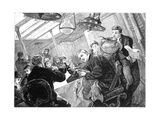 Dinner Time in the First Class Dining Saloon of an Atlantic Steamer on a Stormy Day, C1890 Giclee Print