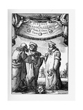 Frontispiece of the Dialogue Concerning the Two Chief World Systems by Galileo Galilei, 1632 Giclee Print by Stefano Della Bella