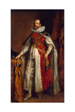 Portrait of Henry Danvers, 1st Earl of Danby, in Robes as Knight of the Garter, End 1630S Giclee Print by Anthonis van Dyck