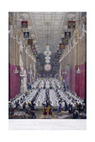 The Lord Mayor's Dinner at Guildhall, London, 1829 Giclee Print by George Scharf