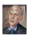 Portrait of the Poet Andrei Bely, (1880-193), 1932 Giclee Print by Kuzma Sergeyevich Petrov-Vodkin