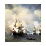 The Naval Battle of Chesma on 5th July 1770, 1848 Giclee Print by Ivan Konstantinovich Aivazovsky