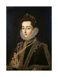Portrait of the Infanta Catherine Michelle of Spain, (1567-159), 1582-1585 Giclee Print by Alonso Sanchez Coello
