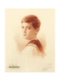 Portrait of the Successor to the Throne Tsarevich Alexei Nikolaevich of Russia, 1913 Giclee Print