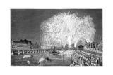 Fireworks on the Bridge, Paris, 1754 Giclee Print