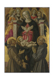 The Virgin and Child with Saints, Angels and a Donor, Ca 1475 Giclee Print by Bartolomeo Caporali