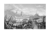 The Opening of London Bridge by King William IV and Queen Adelaide, 1831 Giclee Print by Clarkson Stanfield