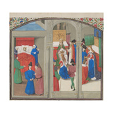 Death of Baldwin IV, Coronation of Guy of Lusignan, 1460S Giclee Print