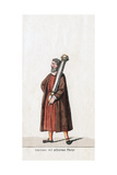 Nobleman with Silver Column, Costume Design for Shakespeare's Play, Henry VIII, 19th Century Giclee Print