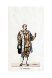 Sir Nicholas Vaux, Costume Design for Shakespeare's Play, Henry VIII, 19th Century Giclee Print