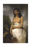 Portrait of Poedooa, Daughter of Orea, King of Ulaitea, Society Islands, Ca. 1783 Giclee Print by John Webber