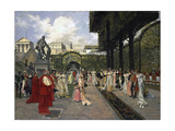 Napoleon I and the King of Rome at Saint-Cloud in 1811, 1896 Giclee Print by Francois Flameng