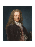 Portrait of the Writer, Essayist and Philosopher Francois Marie Arouet De Voltaire, 1730s Giclee Print