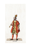Holder of a Sceptre, Costume Design for Shakespeare's Play, Henry VIII, 19th Century Giclee Print