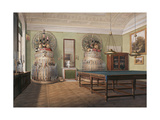 Interiors of the Winter Palace, the Billiard Room of Emperor Alexander II, Mid of the 19th C Giclee Print by Eduard Hau