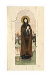 Saint Euphrosyne of Polatsk (Study for Frescos in the St Vladimir's Cathedral of Kie), 1884-1889 Giclee Print by Viktor Mikhaylovich Vasnetsov