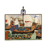 The Expedition of the French and Genoese to Barbary, 15th Century Giclee Print